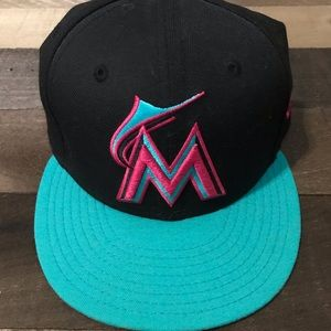 New Era fitted hat Miami Marlins